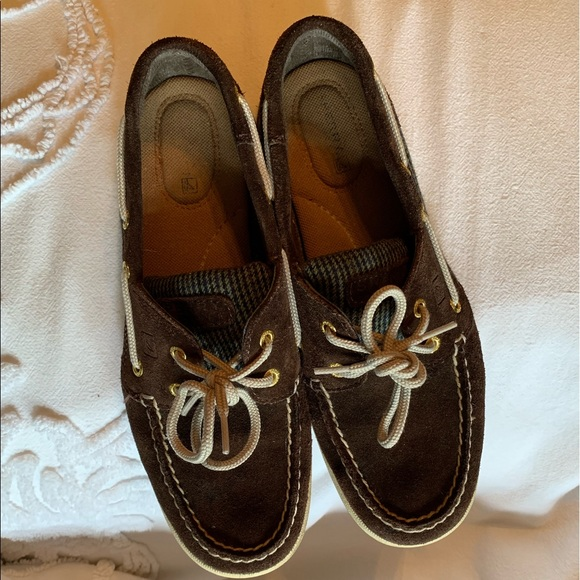 Sperry Shoes - Sperry Suede & Wool Tweed Boat Deck Shoes Sz 8